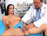 Hottest big natural juggs babe Chiara and dirty doctor