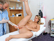 Samantha, 21 years girl gyno exam. Checkup with preliminary exam, abdominal exam, vaginal depth, anal checkup, three speculums, rectoscope, enema and orgasm heartbeat!