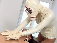 NAUGHTY RUBBER DOCTOR AND PATIENT IN RUBBER CLINIC PT 3