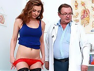 Hot stockings babe Kara Rose and her 2nd gyno exam