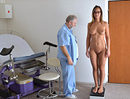 Naomi, 24 years girl gyno exam. Checkup with breasts and abdomen palpation, pulse, measurement, anal inspection, vaginal & anal ultrasound, two speculums, perineum checkup and vibrator.
