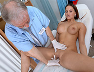 Barbara, 20 years girl gyno exam. Checkup with breasts and physical exam, enema, anal inspection, ultrasound, vaginal depth, vaginal lavage, two speculums, vibrator orgasm sthethoscope.