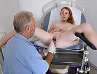 18 YEARS. Exam with breasts checkup, pulse rate, thermometers, ultrasound, anal & vaginal exam, enema, two speculums, vibrator orgasm stethoscope, suppository and much more!