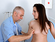 Sara, 23 years girl gyno exam. Inspection with feet and abdominal exam, doppler, thermometers, anal exam, vaginal ultrasound, two speculums and electro-therapy orgasm heartbeat!